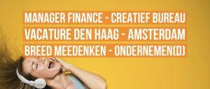 Allround Manager Finance vacature Den Haag Amsterdam creatief bureau