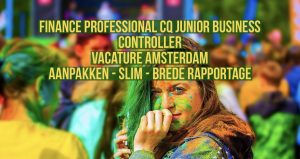 Finance Professional cq junior Business Controller vacature Amsterdam
