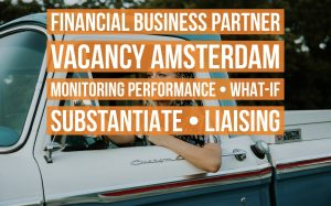 Financial Business Partner vacancy Amsterdam monitoring performance liaising