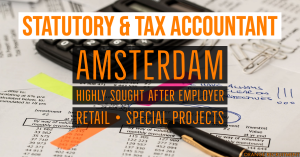 Statutory and Tax Accountant temp vacancy amsterdam