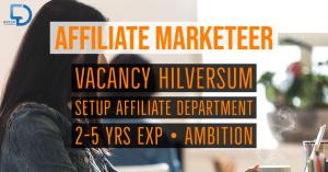 affiliate marketeer vacancy dutchchannels hilversum txt