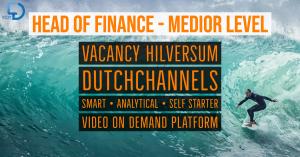 head of finance medior level vacancy dutchchannels video on demand