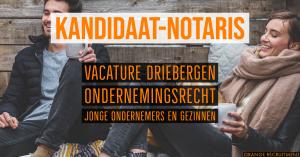 kandidaat notaris ondernemingsrecht heuvelrug notarissen driebergen vacature