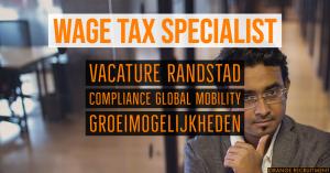 wage tax specialist compliance global mobility vacature randstad belastingadvieskantoor tax consultancy